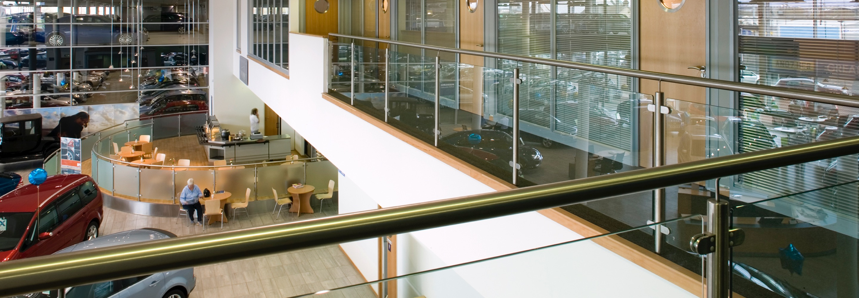 Corporate Interiors Design and Build - Office Accommodation - view from mezzanine