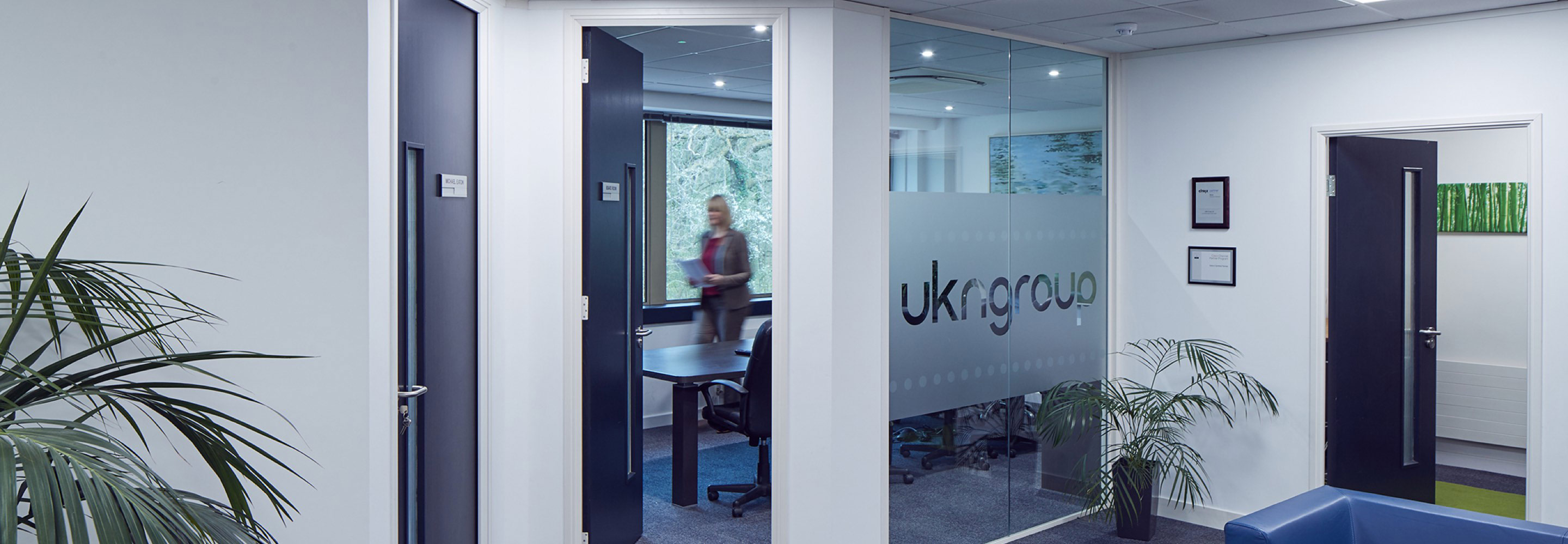 Corporate Interiors - office interior for UKN Group