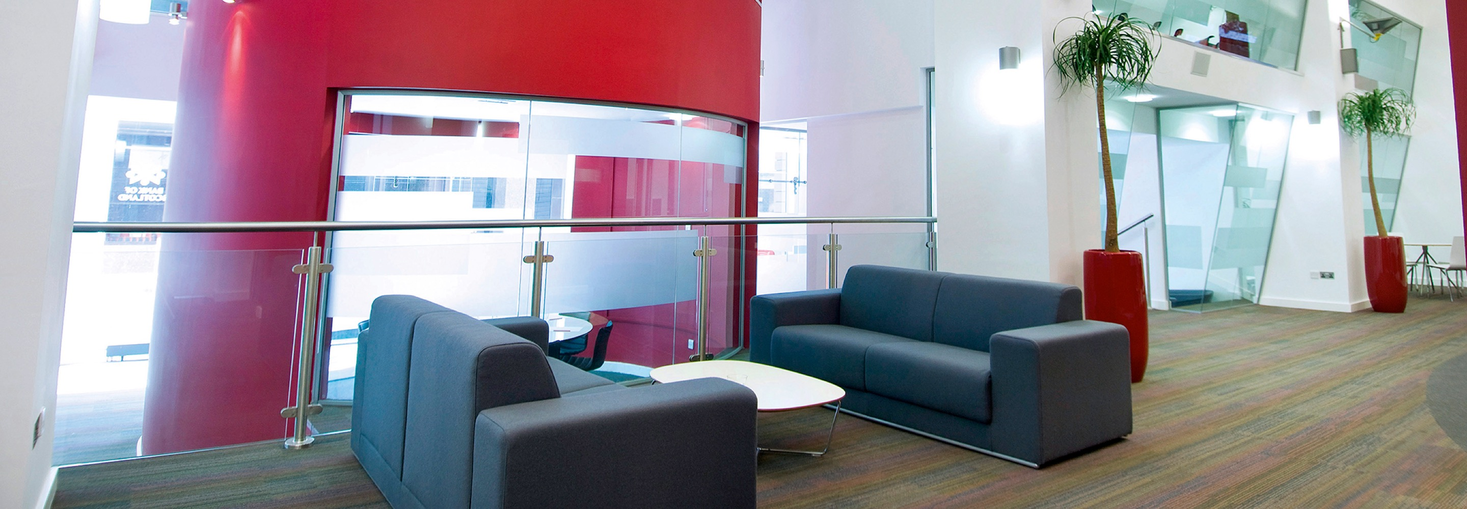 Corporate Interiors Design and Build - office reception and lobby