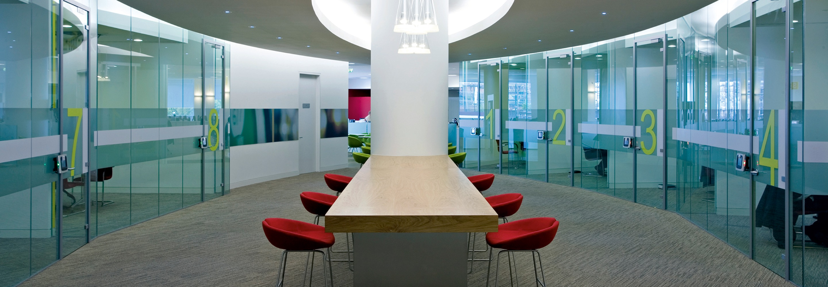 Corporate Interiors Design and Build - contemporary office meeting area
