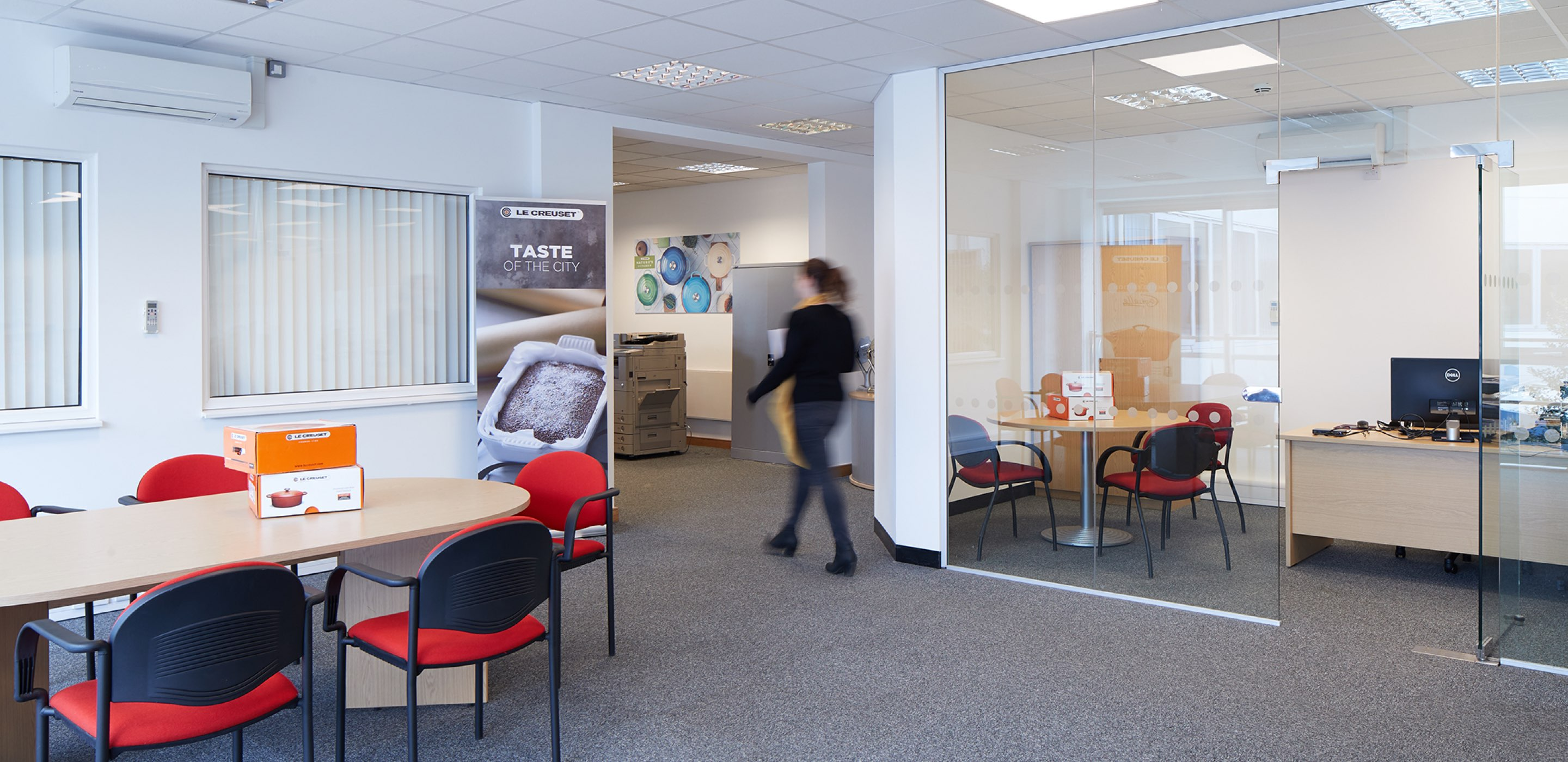 Corporate Interiors office design and fit out for Le Creuset Basingstoke - office layout