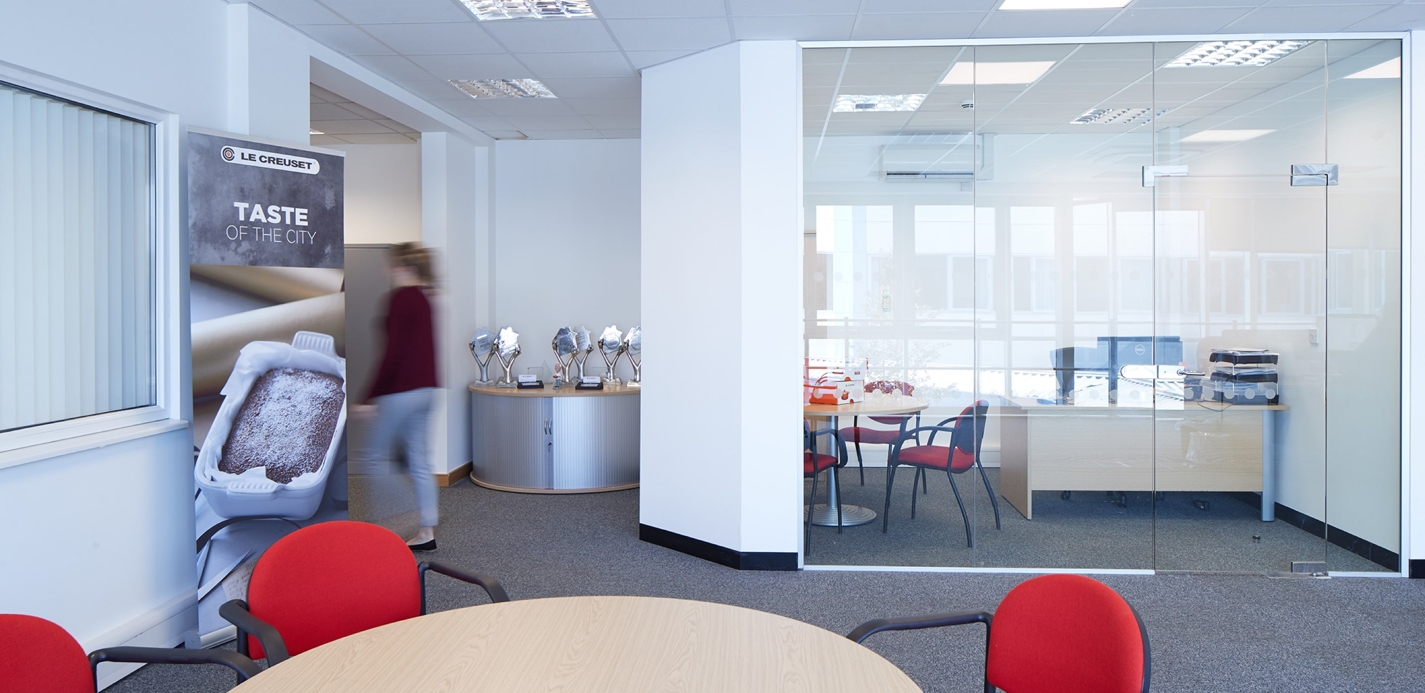 Corporate Interiors design and fit out for Le Creuset Basingstoke - office interior detail